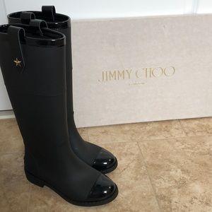 7c7bf9936b04 Jimmy Choo Edith Knee-High Rain Boot
